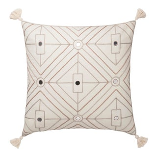"""Justina Blakeney X Loloi Natural 22"""" X 22"""" Cover with Down Pillow For Sale"""