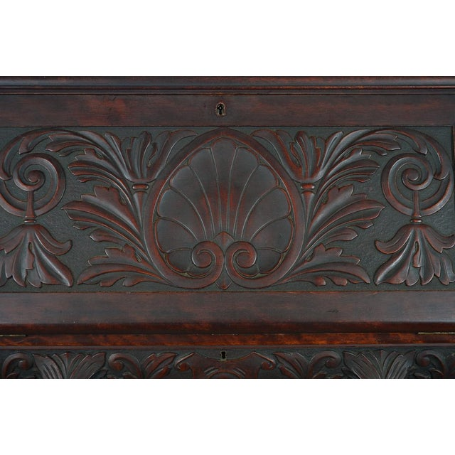 R. J. Horner C.1890's Carved Mahogany Drop Desk For Sale In Los Angeles - Image 6 of 10