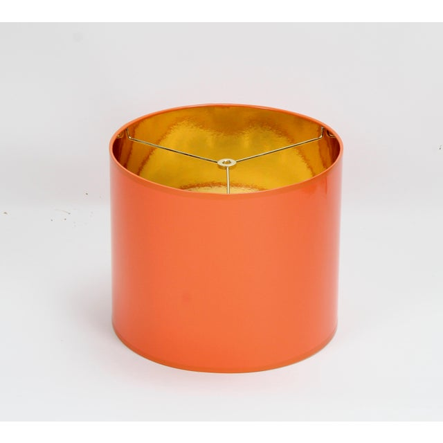 """Made To Order: 1-2 week lead time Individually hand-made Exterior Color: Orange Interior Color: Gold Size: Diameter: 16""""..."""