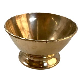 Vintage Mid Century Brass Bowl For Sale