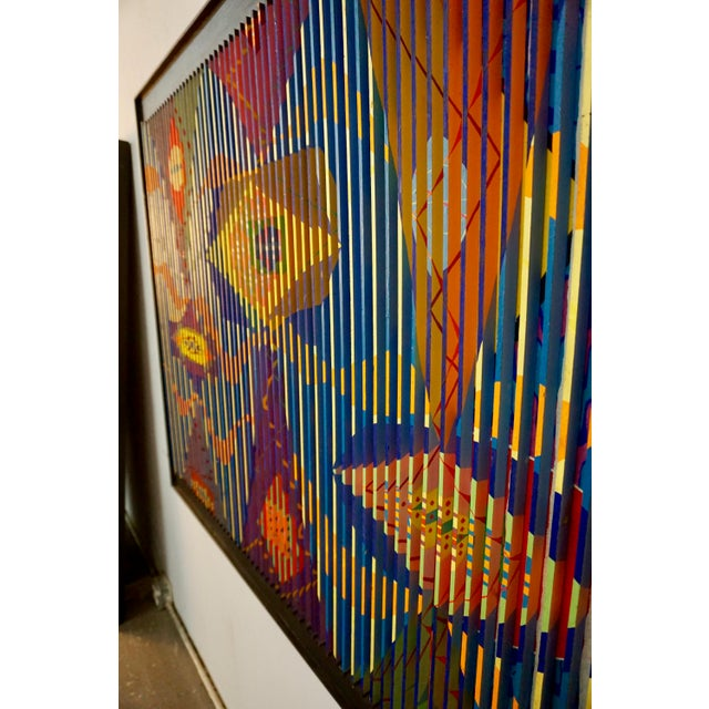 1960s Louvered Abstract Painting by Louis Nadalini For Sale - Image 5 of 9