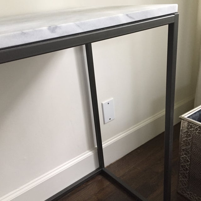 West Elm 48 Marble Top Iron Base Console Chairish