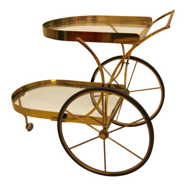 Deco Brass Bar Cart - Image 1 of 10