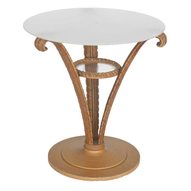 Art Deco Grosfeld House Plume Side Table For Sale - Image 3 of 6