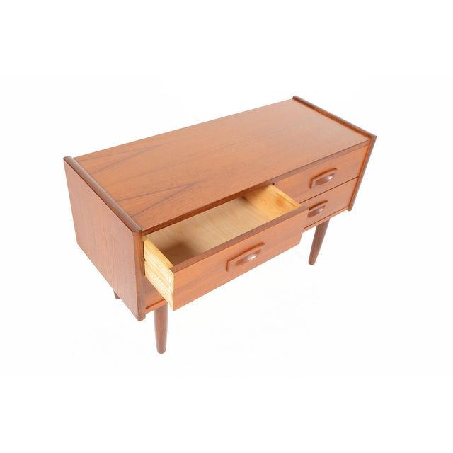 Danish Modern 4-Drawer Teak Entry Chest - Image 4 of 6