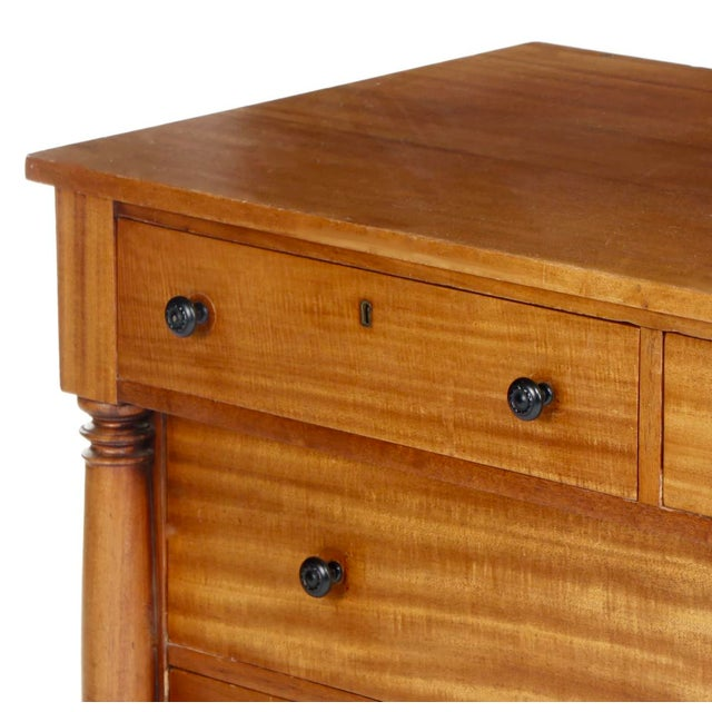 Late 19th Century Antique Empire Birch Chest of Drawers For Sale - Image 5 of 8