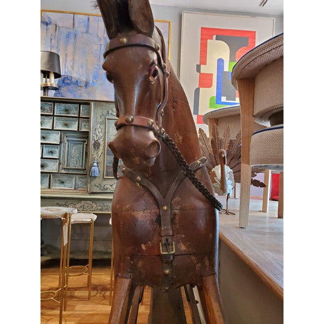 Brown 19th Century English Rocking Horse For Sale - Image 8 of 9