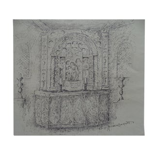20th Century Spanish Colonial Bess Haddon Canright: Altar Scene For Sale