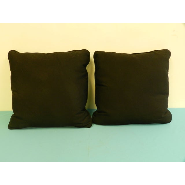 Scalamandre Green Jumping Zebra Pillows - A Pair For Sale - Image 4 of 6