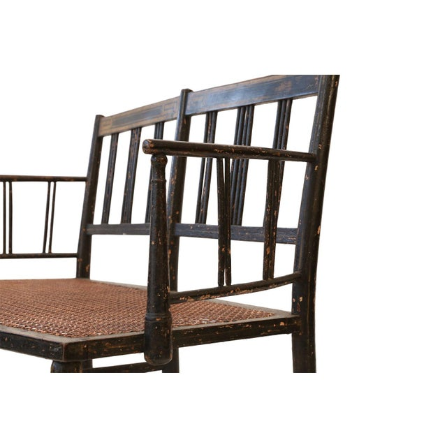 Wood Regency Caned Settee For Sale - Image 7 of 12