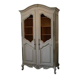 Antique Swedish Cabinet With Mesh Wire Doors For Sale