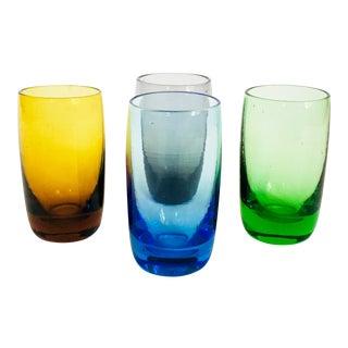 Vintage Rainbow Shotglasses - Set of 4 For Sale