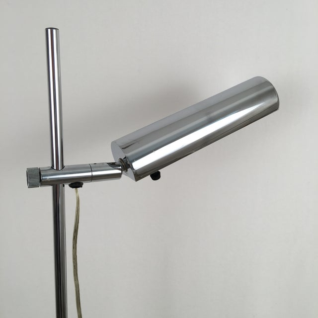 Koch & Lowy Vintage Koch & Lowy OMI Chrome Floor Lamp For Sale - Image 4 of 7