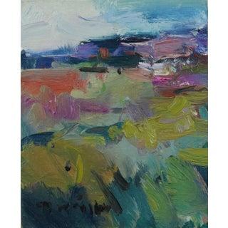 Contemporary Southwestern Field Landscape Oil Painting by Jose Trujillo For Sale