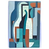 Image of Mid-Century Modern Cubist Abstract Painting For Sale