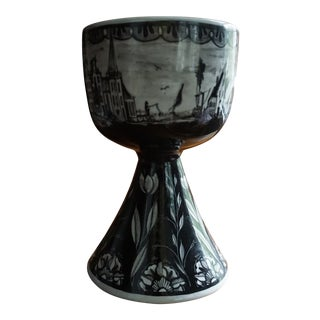 Peter Van Rossum Black Delft Chalice For Sale