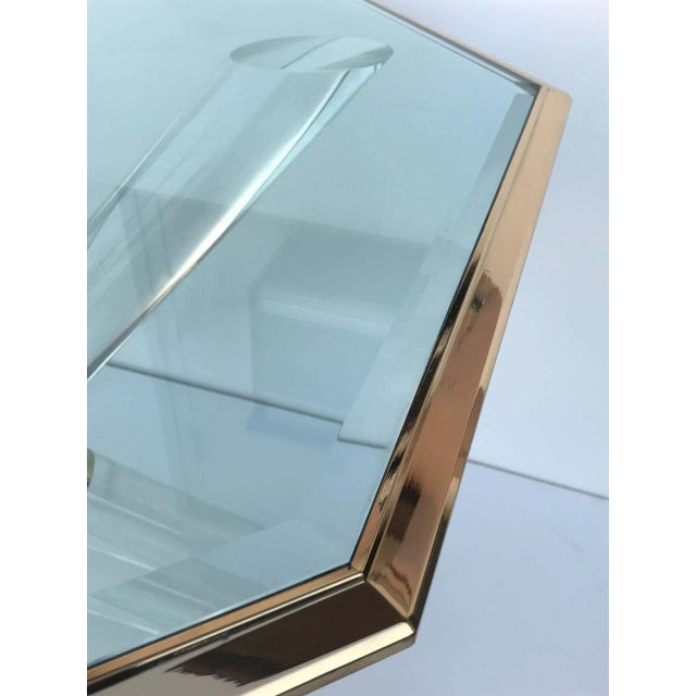 """Charle Hollis Jones """"Post & Truss"""" Lucite and Brass Dining Table For Sale In Los Angeles - Image 6 of 8"""