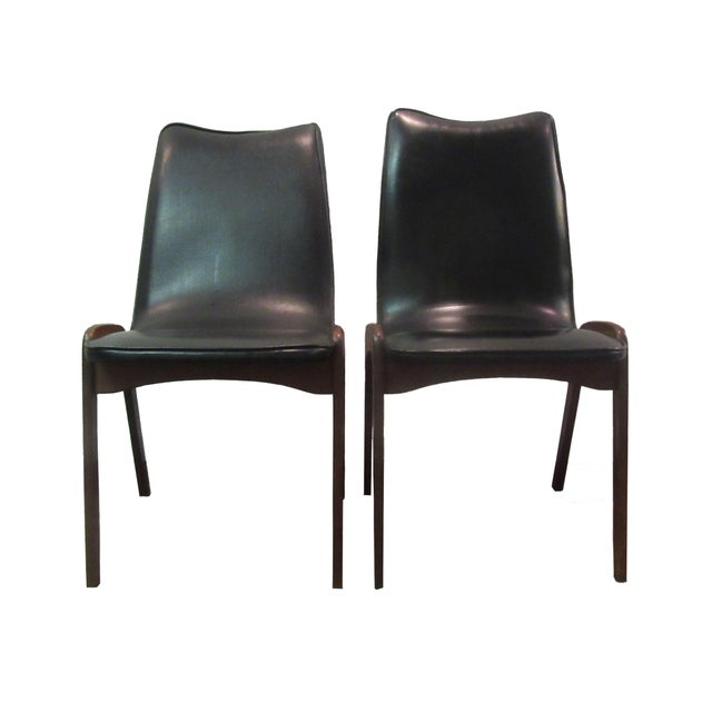 Mid-Century Danish Modern Teak Dining Chairs- A Pair - Image 1 of 10