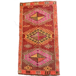 21st Century Vintage Bright Red and Pink Rug- 1′6″ × 2′10″ Preview