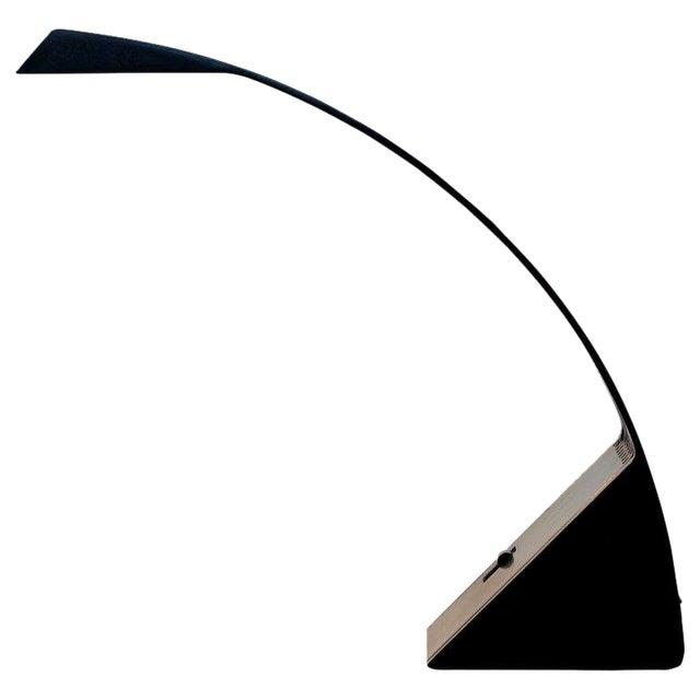 1970s, Italy Marco Zotta Mid-Century Modern Arcobaleno Halogen Black Desk Lamp For Sale