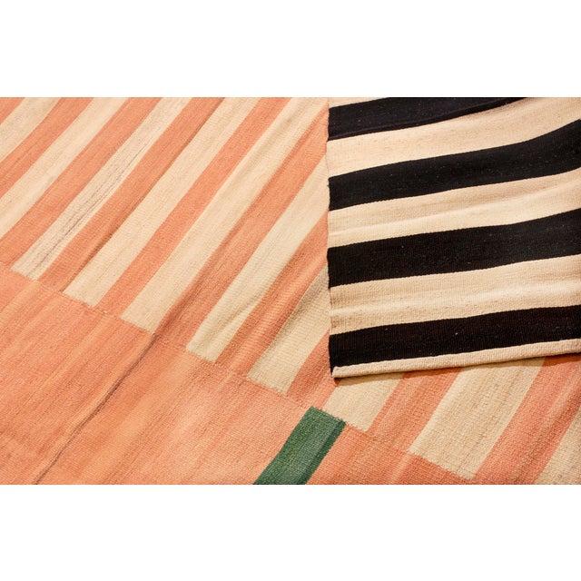 2010s Vintage Geometric Wool Kilim Rug - 8′4″ × 10′2″ For Sale - Image 5 of 6