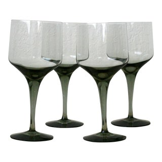 Rhapsody Smoke Glasses by Orrefors - Set of 4 For Sale