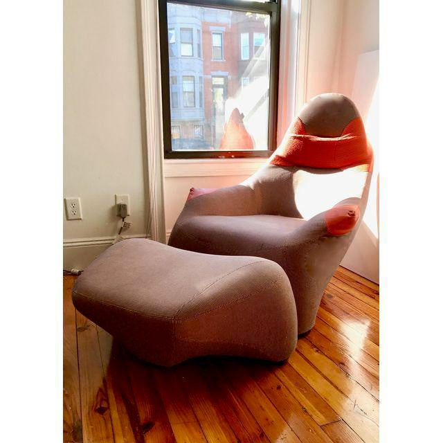 Marc Sadler for Moroso Lounge Chair & Ottoman - A Pair - Image 4 of 4