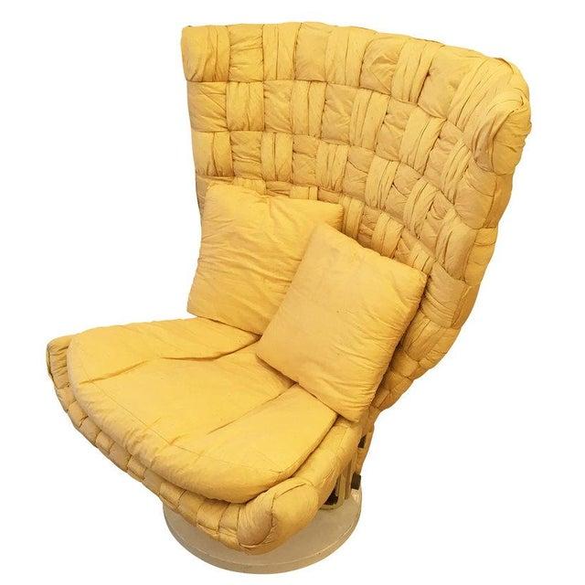 Silk Swivel Lounge Chair by Marzio Cecchi For Sale - Image 7 of 8