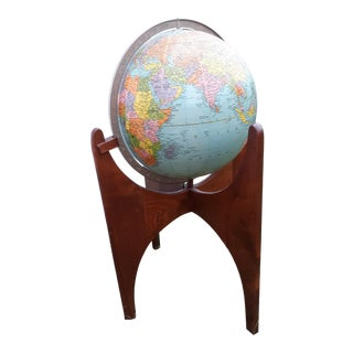Adrian Pearsall for Craft Associates World Globe For Sale