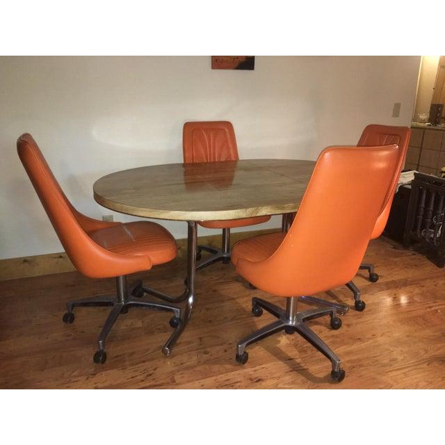 Orange Chromcraft Table Amp Chairs Set Chairish