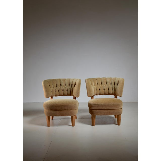 Otto Schulz Pair of Lounge Chairs by Jio Möbler, Sweden, 1940s - Image 3 of 4