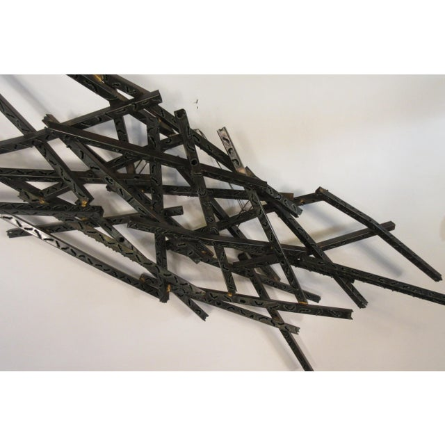 1970s Industrial Metal Wall Sculpture For Sale - Image 9 of 13