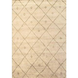 Modern Moroccan Wool Rug - 6′ × 9′ For Sale