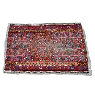 Multicolored Antique Persian Rug Karadja - 2′2″ × 3′3″