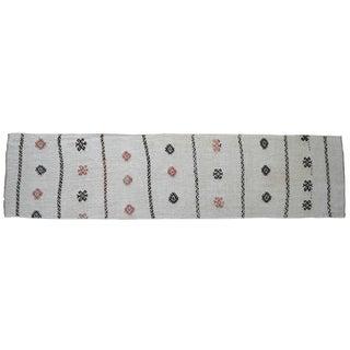 Minimal Style Hand Woven Runner Rug Pure Hemp Primitive Hallway Rug- 2′8″ X 10′12″ For Sale