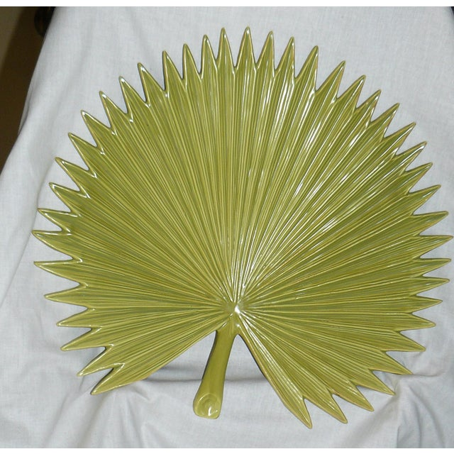Global Views Palm Leaf Platter With Feet For Sale - Image 9 of 9
