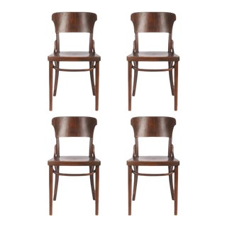 Bentwood Chairs by Thonet, 1930s - Set of 4
