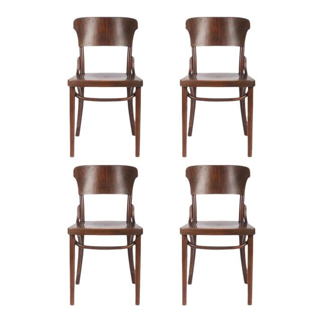Bentwood Chairs by Thonet, 1930s - Set of 4 For Sale