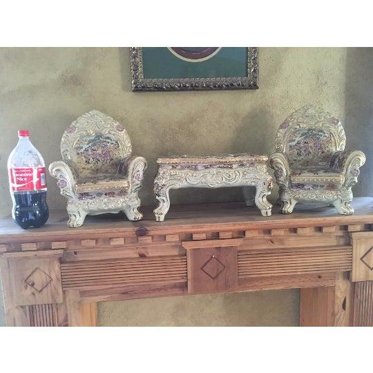 Satsuma Ornate Satsuma Miniature Table & Chairs - Set of 3 For Sale - Image 4 of 7
