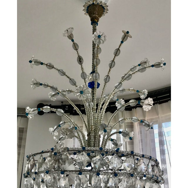 1940s Mid Century French Crystal Chandelier For Sale - Image 10 of 13