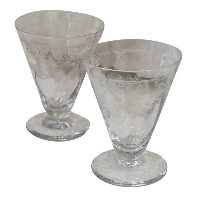 Antique Etched Goblets For Sale