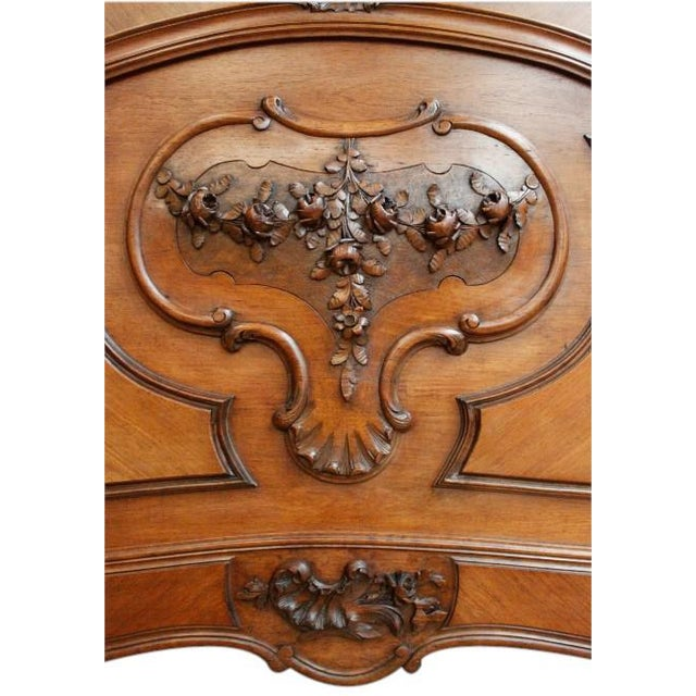 Antique French Rococo Louis XV Style Bed - Image 7 of 7