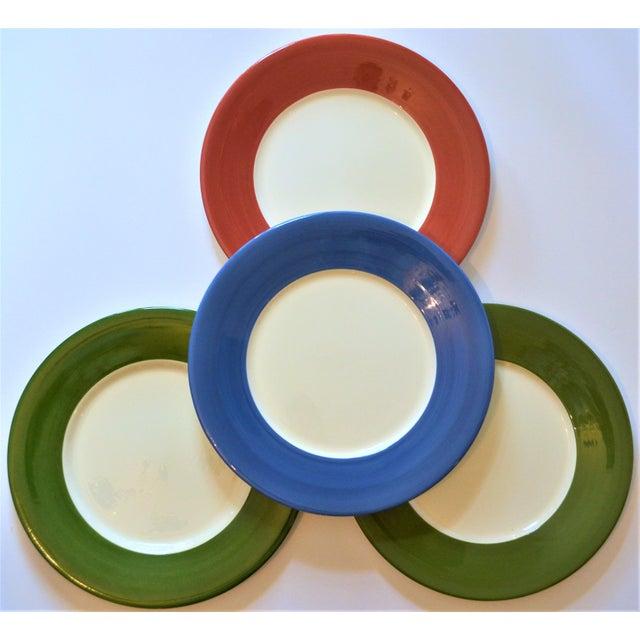 Ceramic Vintage French Gien Chop House Charger Plates - Set of 4 For Sale - Image 7 of 7