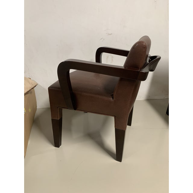 2010s Promemoria Brown Leather Chair For Sale - Image 5 of 8