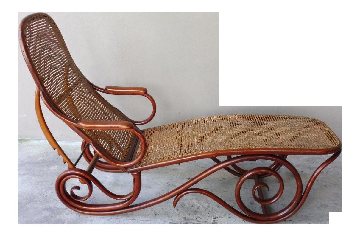 20th Century Mid Century Modern Thonet Chaise Lounge Chair