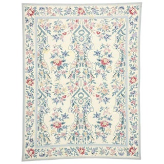 Vintage Aubusson Style Needlepoint Rug - 8'8 X 11'4 For Sale