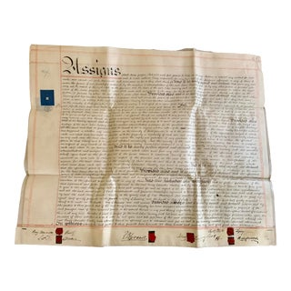 1800s Indentured Servitude Legal Papers, Wax Seals For Sale