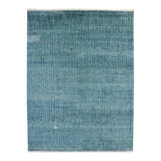 Contemporary Coastal Moroccan Style Rug with Abstract Design
