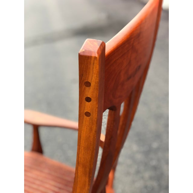Vintage Mid Century Studio Crafted Rocking Chair For Sale - Image 9 of 13