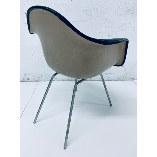 Leather Herman Miller Black Leather Arm Chairs by Charles and Ray Eames, 1950 - a Pair For Sale - Image 7 of 12